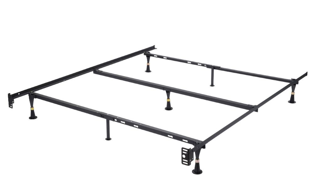 Adjustable Full Queen Bed Frame : Heavy duty adjustable metal bed frame queen full