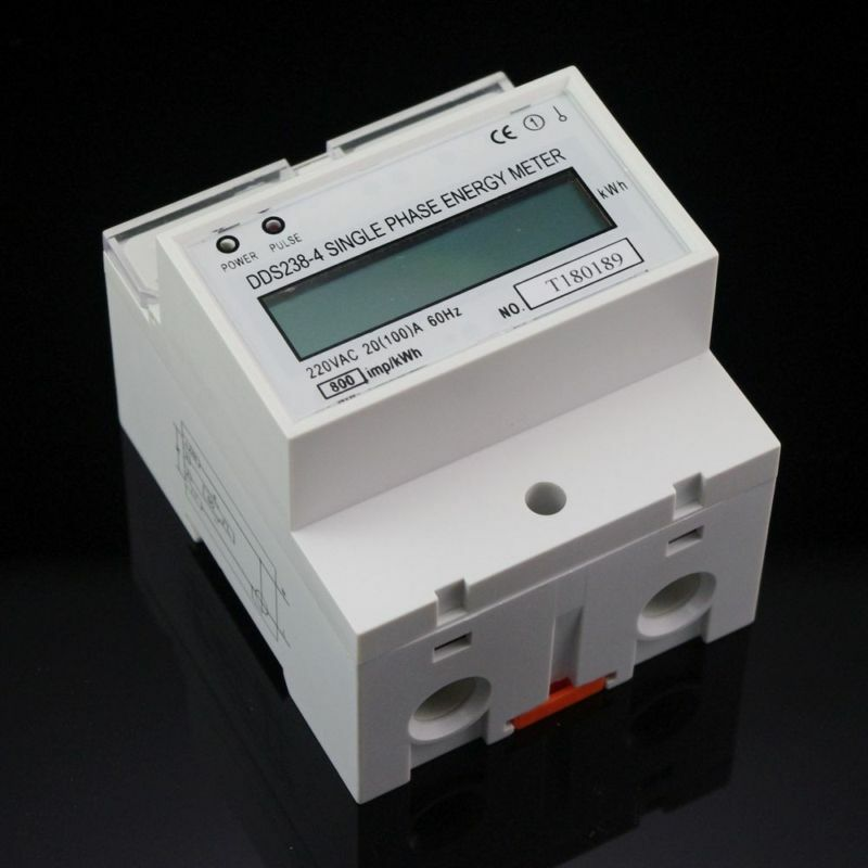 Kilowatt Hour Meter : V single phase din rail kilowatt hour kwh meter hz ebay