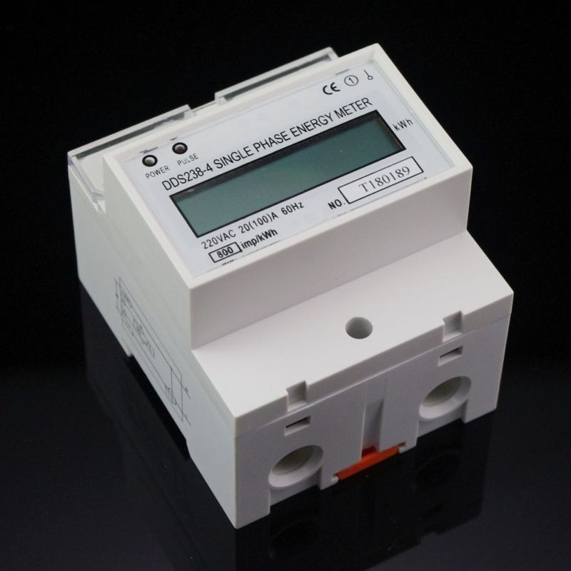 Kilowatt Usage Meter : V single phase din rail kilowatt hour kwh meter hz ebay