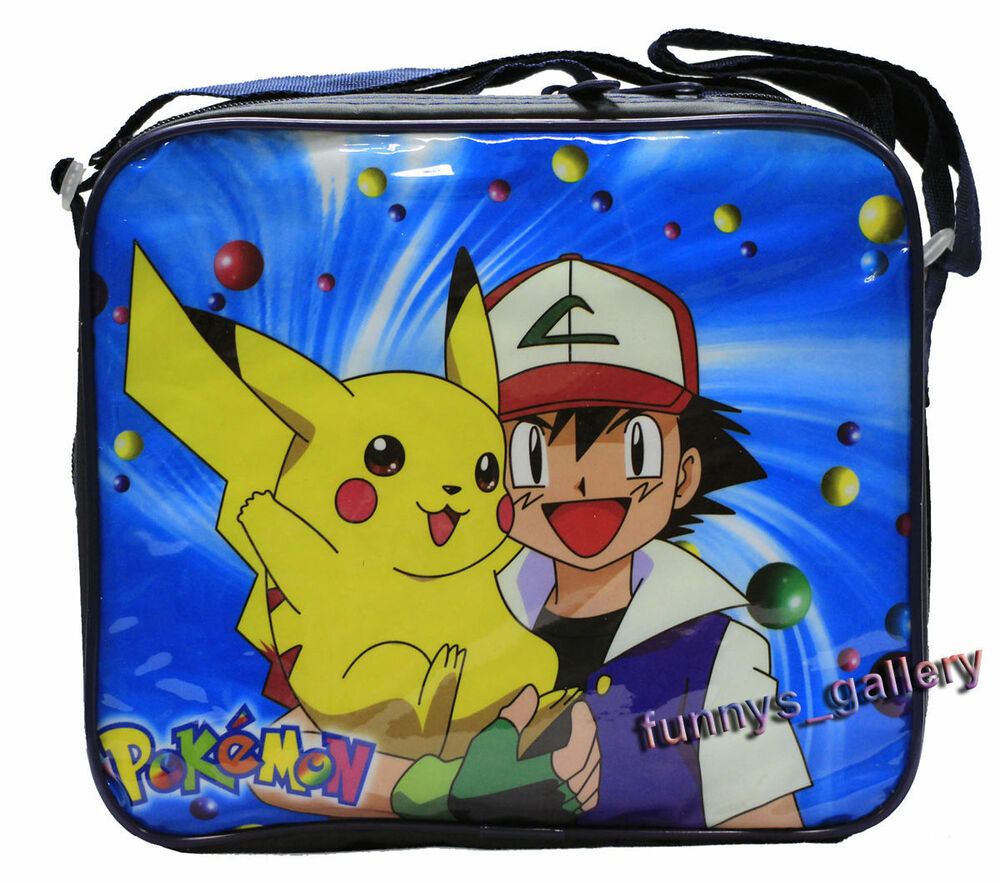 Pokemon Pikachu Insulated Cooler Snack Lunch Bag Tote