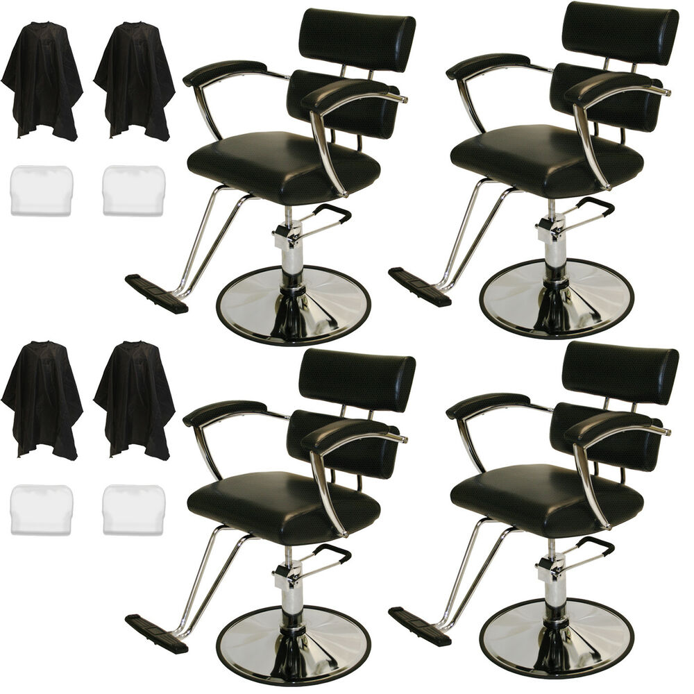 4 padded arms professional hydraulic barber chair styling for Accessories for beauty salon