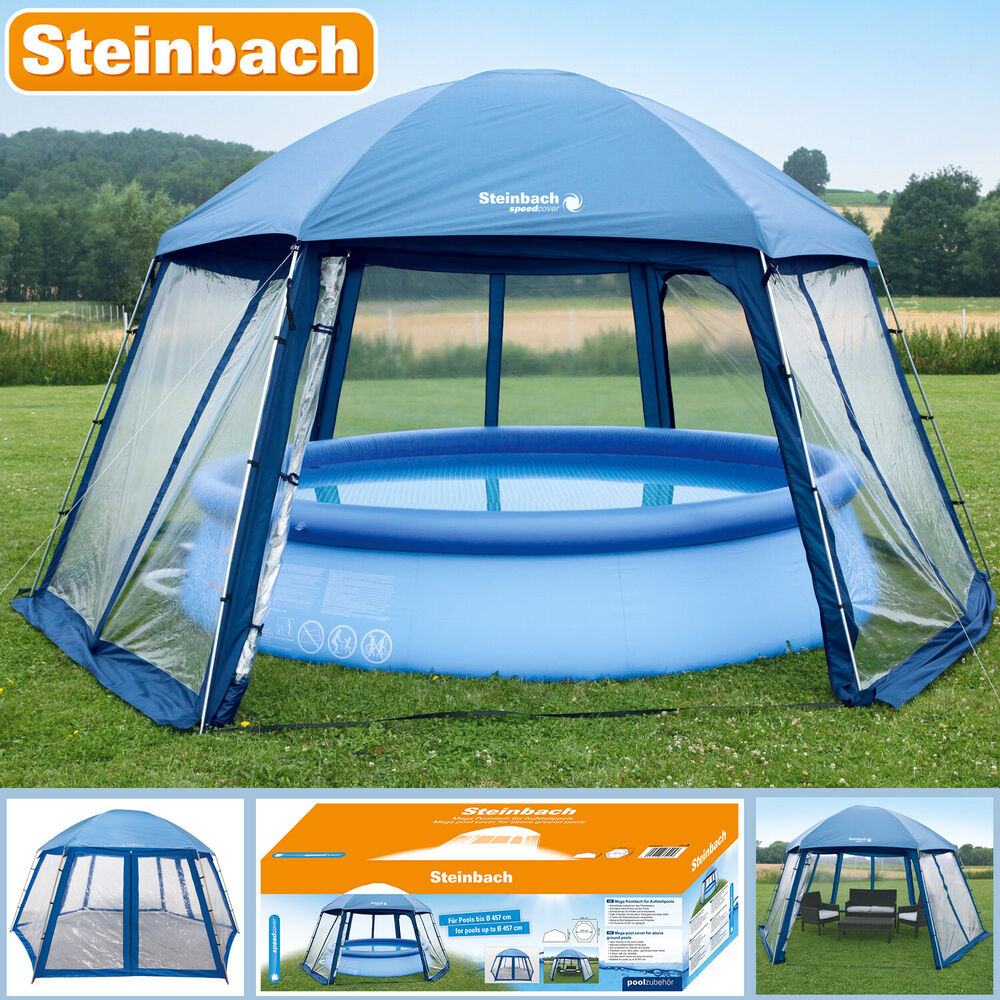 pavillion 600x520x280 cm pool zelt metall poolpartyzelt garten gartenpavillion ebay. Black Bedroom Furniture Sets. Home Design Ideas