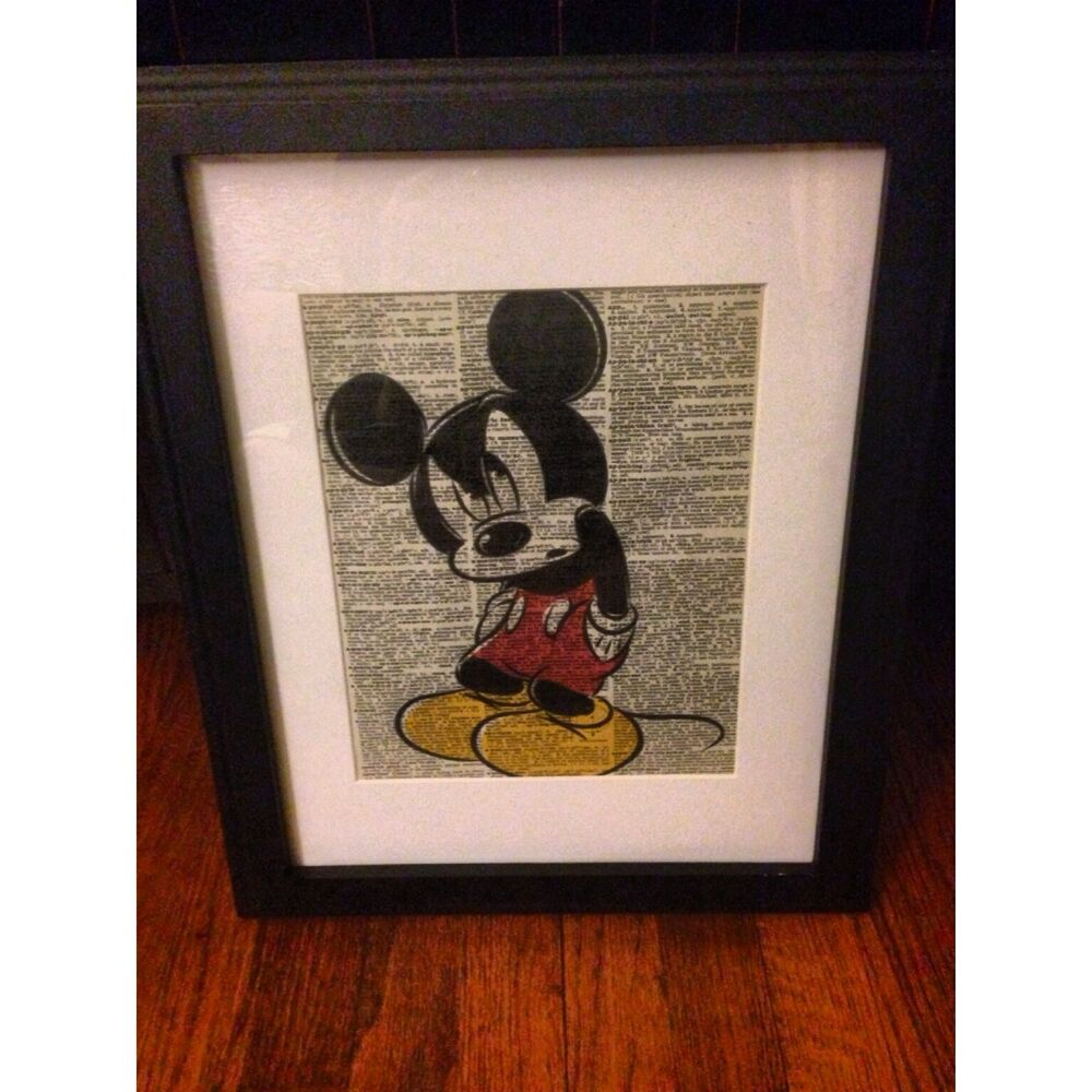 Disney vintage prints vintage dictionary home decor art for Ebay decorations home