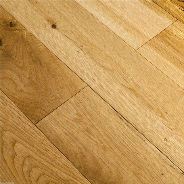 Solid oak flooring vfj lacquered real wood wooden floor for Real solid wood flooring