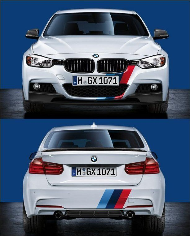 bmw f30 f31 f rear pdc performance stickers decals vinyl graphics ebay. Black Bedroom Furniture Sets. Home Design Ideas