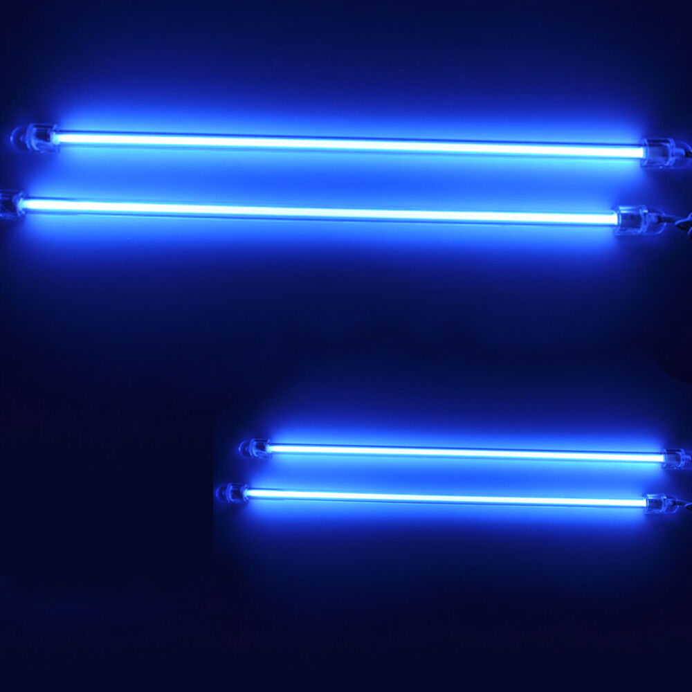 4 piece car blue undercar underbody neon kit lights ccfl cold cathode 6 12 ebay - Underglow neon ...
