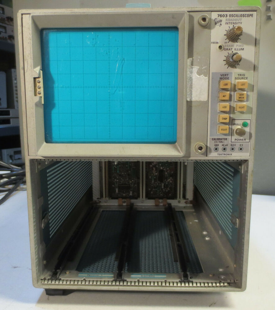Amp On An Oscilloscope : Tektronix type curve tracer oscilloscope