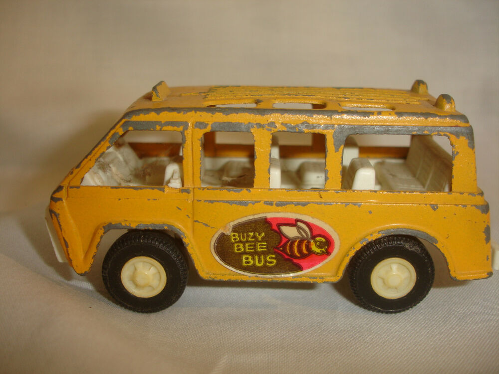 Toys That Were Made In The 1970 : Old vtg tootsietoy buzy bee diecast toy bus made in