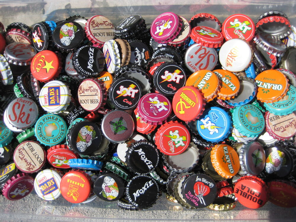 150 american dent free soda bottle caps listing in for What to make with beer bottle caps