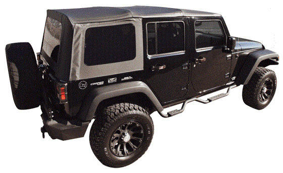 2007 2009 Jeep Wrangler Unlimited Jk Black Soft Top