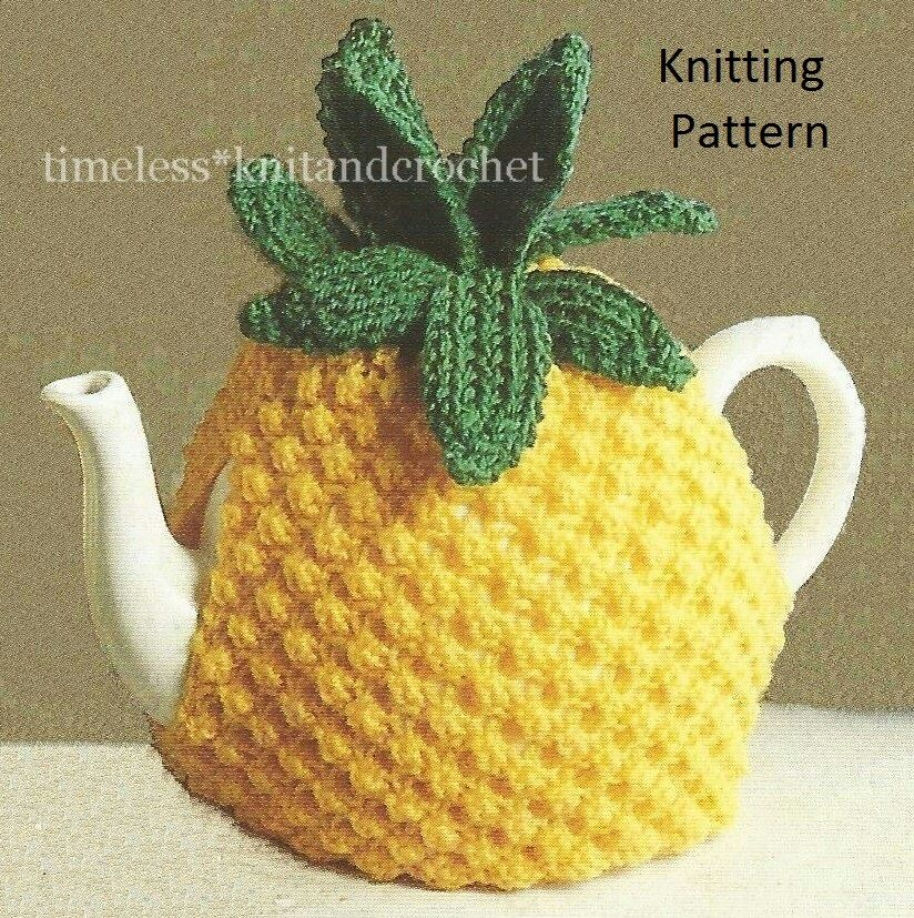 Free Knitting Patterns Flowers : VINTAGE KNITTING PATTERN FOR PINEAPPLE TEA COSY -this is a knitting pattern o...