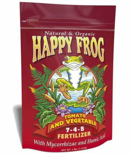 Lot 3 happy frog tomato and vegetable fertilizer 4 lb for Vegetable garden fertilizer