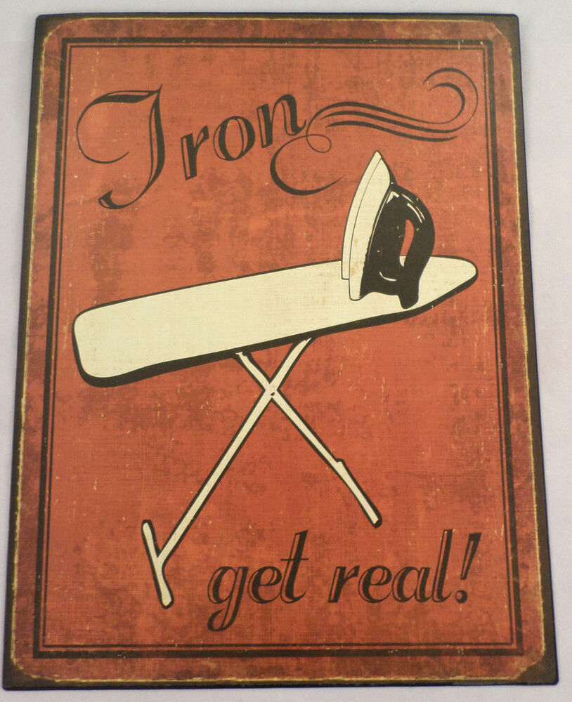 Man Cave Signs For Sale : Iron get real laundry room retro metal wall bar sign man