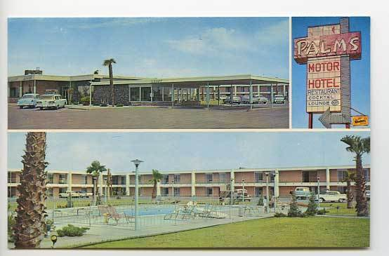 las cruces nm palms motor hotel motel hwys 70 80 old cars. Black Bedroom Furniture Sets. Home Design Ideas
