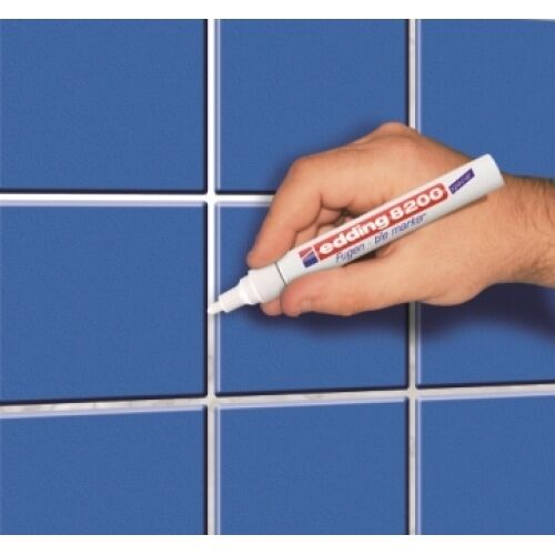 Edding 8200 Tile Grout Marker White Professional Quality