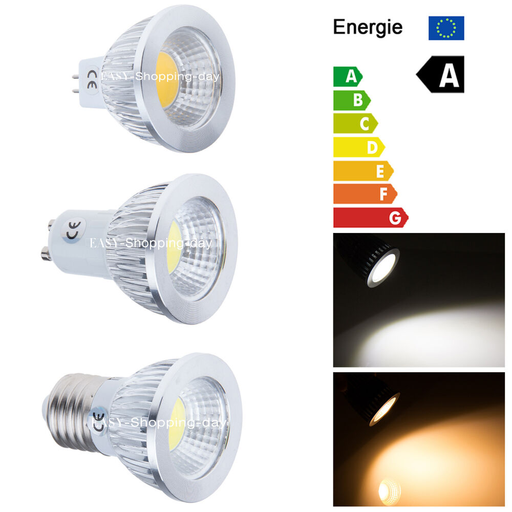 dimmable 6w 9w 12w gu10 e27 mr16 cob led spot light lamp bulb energy saving ebay. Black Bedroom Furniture Sets. Home Design Ideas