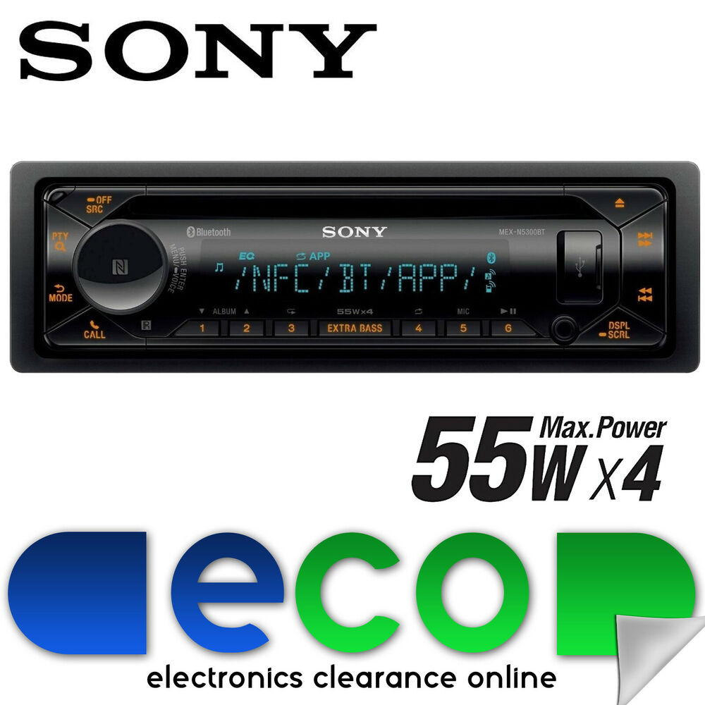 sony mex n5200bt bluetooth cd mp3 car stereo radio front. Black Bedroom Furniture Sets. Home Design Ideas