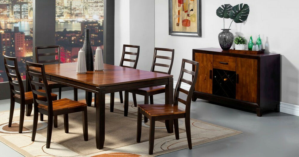 modern dining room furniture dining table w 6 wooden