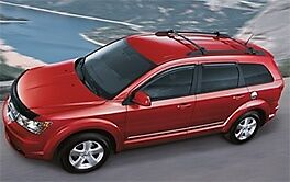 2009 2013 Dodge Journey Cross Bars For Factory Mounted