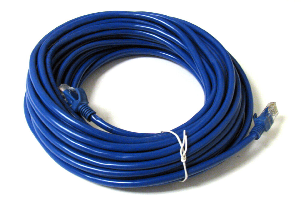 50ft 50 ft rj45 cat5 cat5e ethernet lan network cable blue brand new 15m 873791003464 ebay. Black Bedroom Furniture Sets. Home Design Ideas