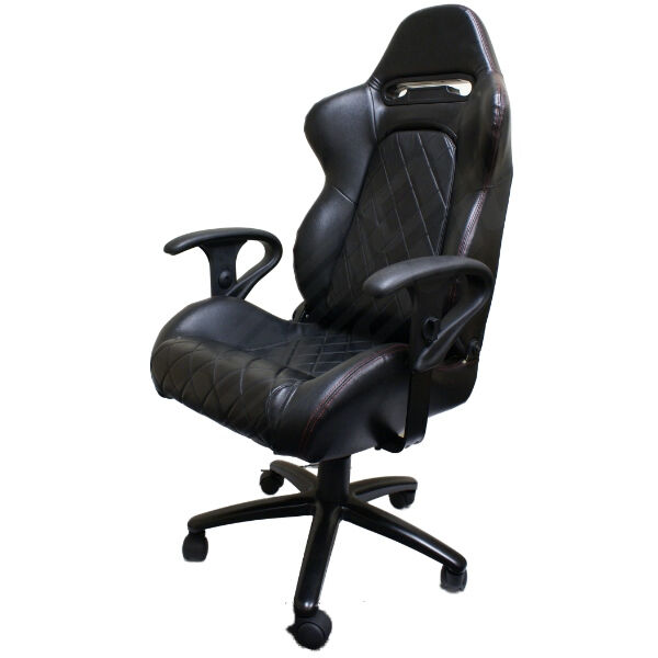 LUXURY EXECUTIVE BLACK BUCKET CAR SEAT OFFICE DESK COMPUTER CHAIR NEW