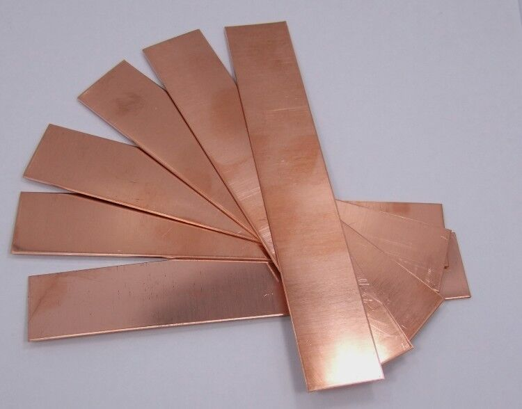 raw copper sheet bracelet cuff blanks 6 x 1 24ga. Black Bedroom Furniture Sets. Home Design Ideas