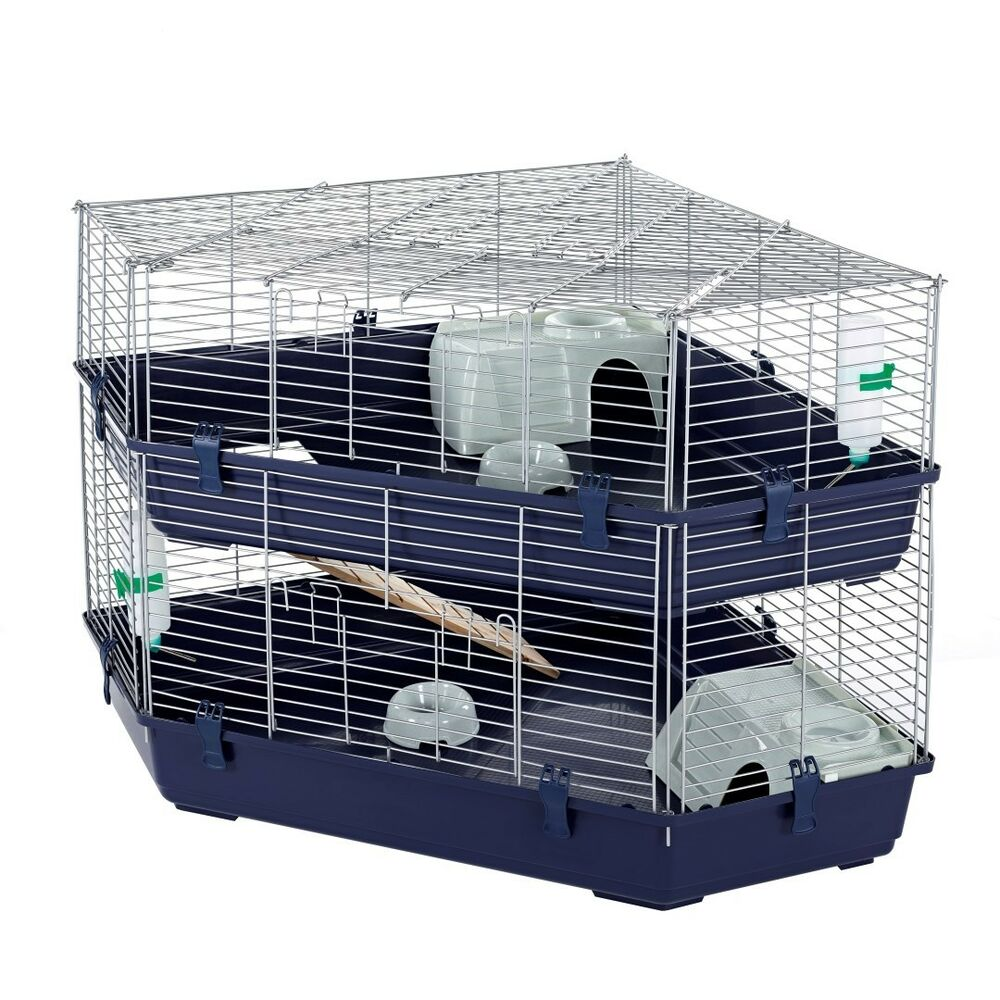 massive indoor double corner cage rabbit guinea pig by
