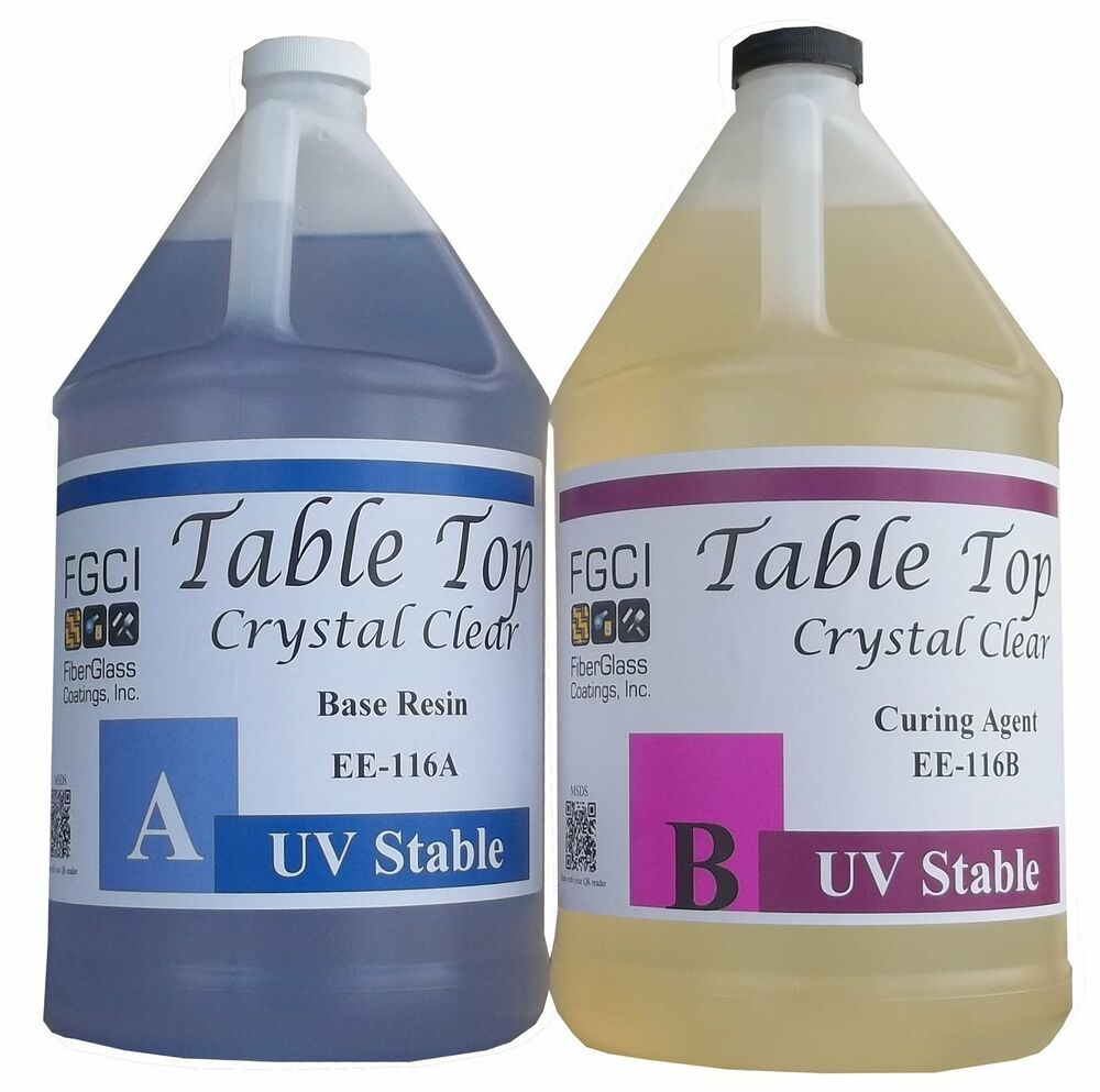 Epoxy Table Top Resin 2 Gallon Kit Crystal Clear