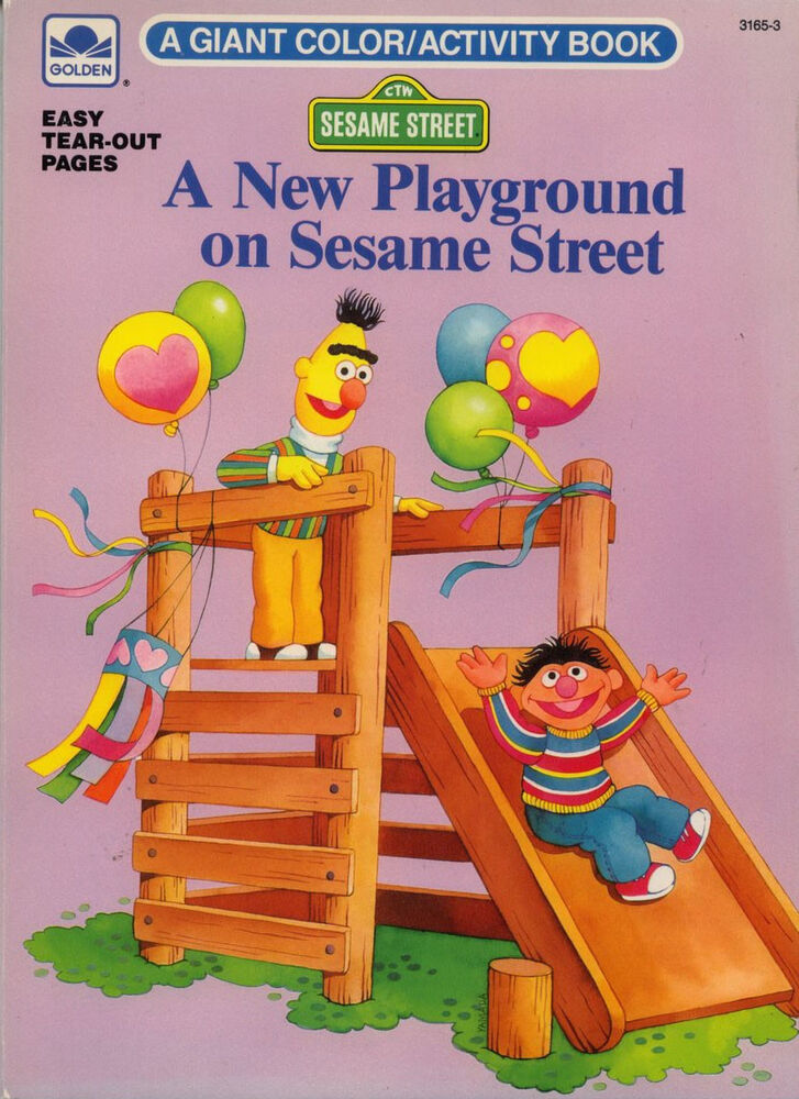 Sesame Street Coloring Book RARE UNUSED
