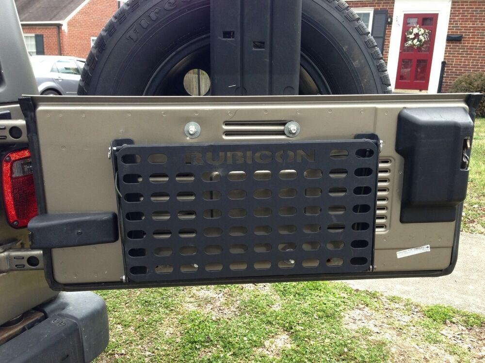 Tj Jeep Tailgate Fold Down Molle Panel Ebay