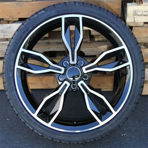 """NEW(4) 20"""" 20X9 WHEEL & TIRE PACKAGE 5X112 +40MM AUDI A4"""