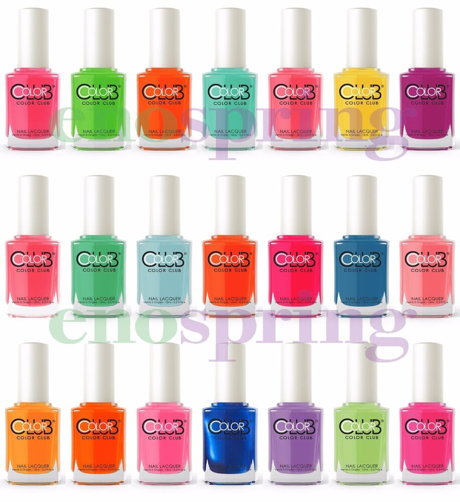 Color Club Neon Nail Polish Lacquer 0.5fl Oz