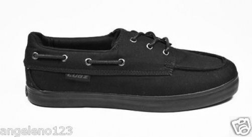 lugz marsh black canvas classic boat shoes medium width