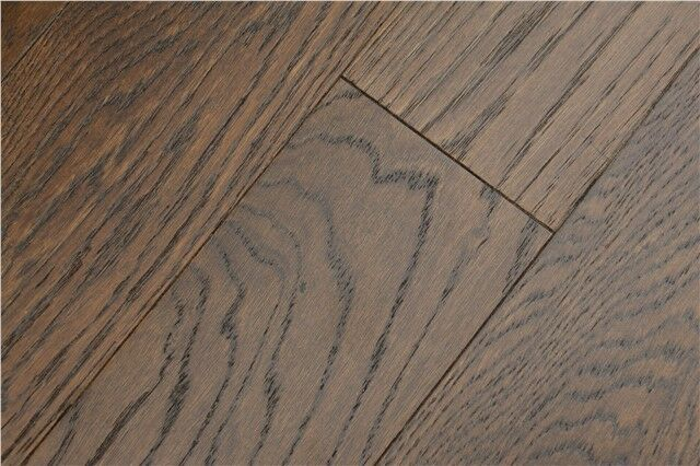Dark Engineered Oak Flooring Wide Real Oak Wood Brushed