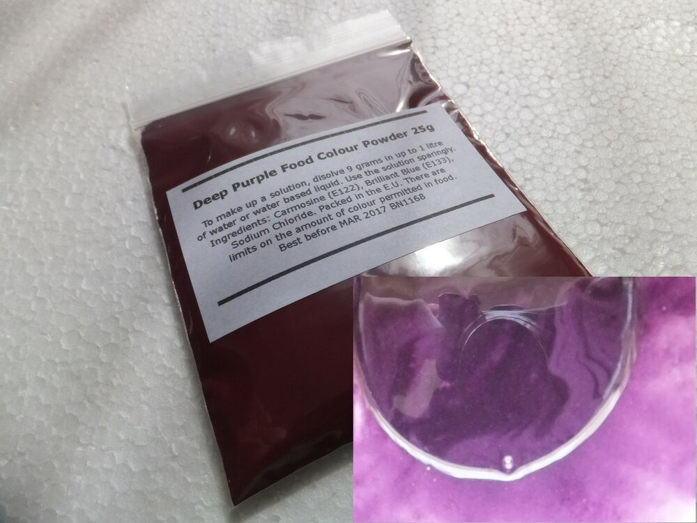PURPLE Concentrated Food Colouring Powder 25g Water Soluble Colour ...