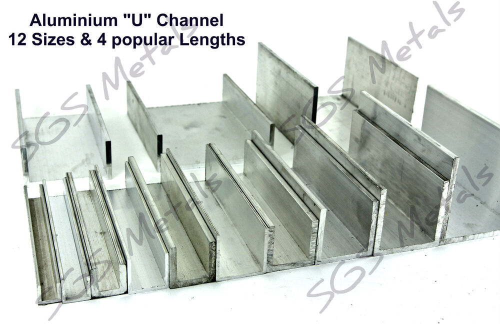 Extruded Aluminium U Channel C Profile 12 Sizes Amp 4