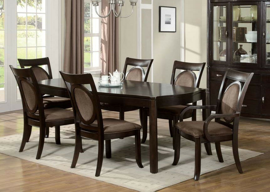7pcs set dining room furniture set vienna dark cherry finish ebay