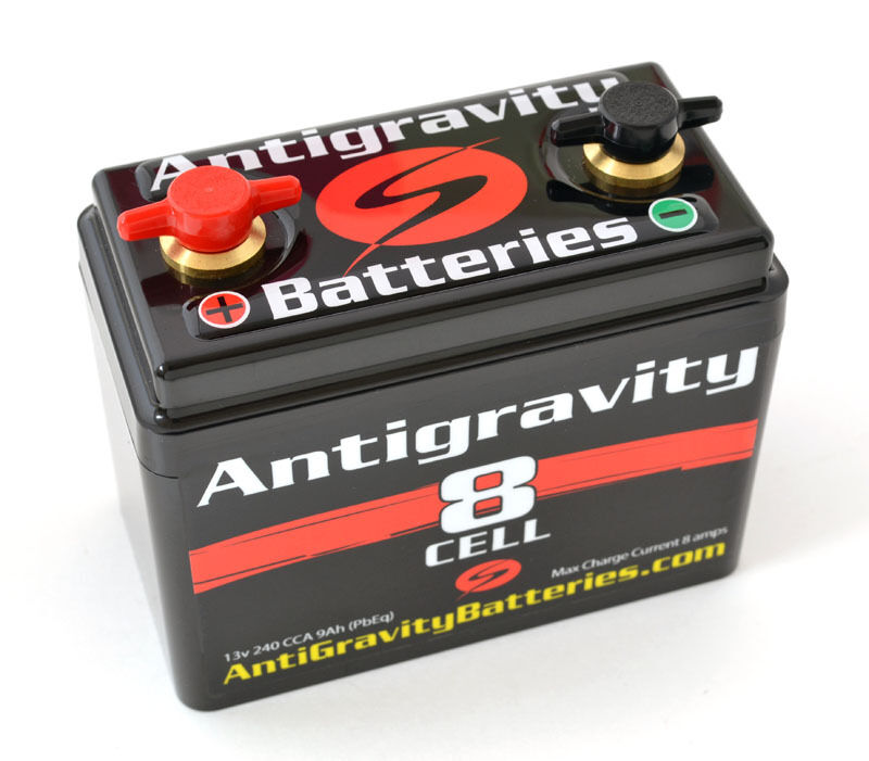 Antigravity 8 cell small case lithium motorcycle battery for Yamaha motorcycle batteries