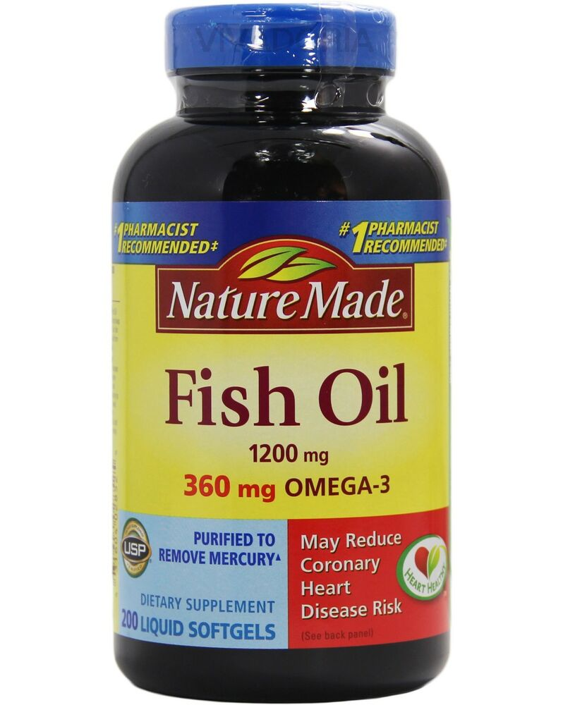Nature made fish oil 1200 mg 360 mg omega 3 200 liquid for Fish omega 3