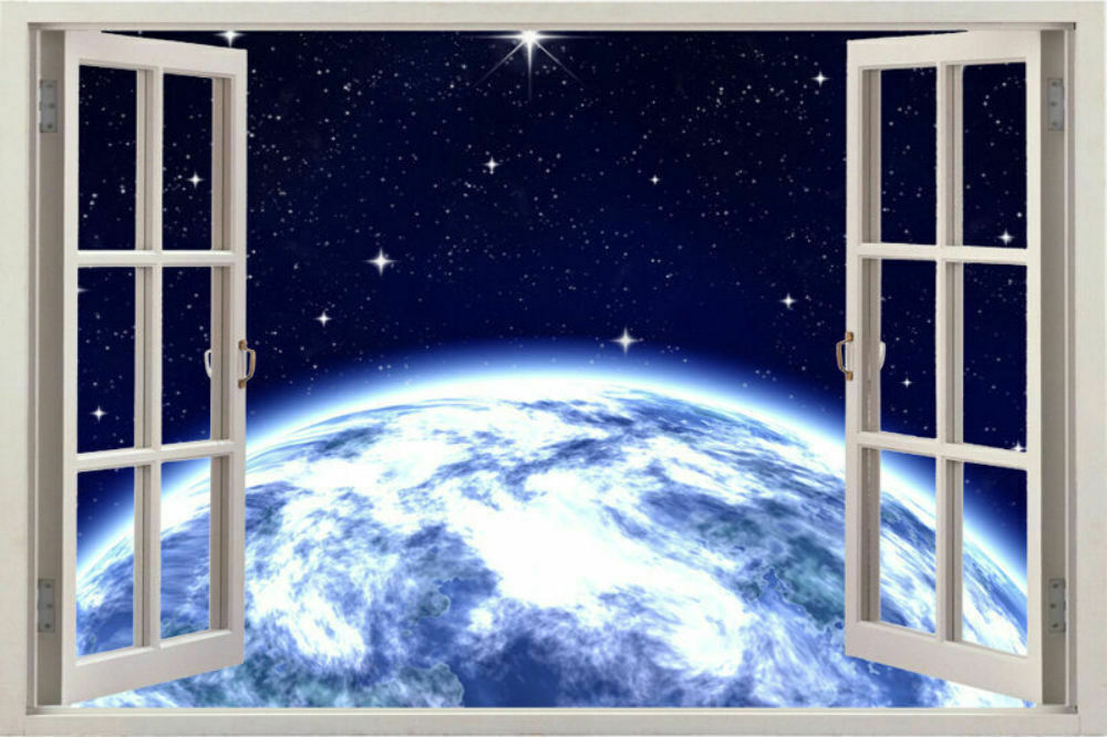 Wall space decal sticker stickers decals graphic decor for Outer space home decor