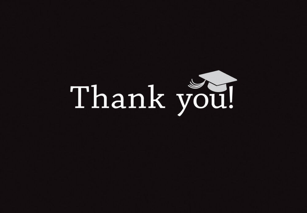 Graduation Thank You Cards: 50 Classic Graduation Thank You Cards Notes High School Or