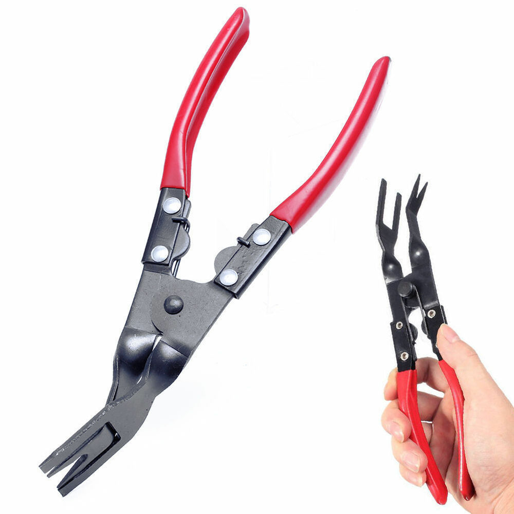 hand auto car interior door panel clip removing remover pliers tool ebay. Black Bedroom Furniture Sets. Home Design Ideas