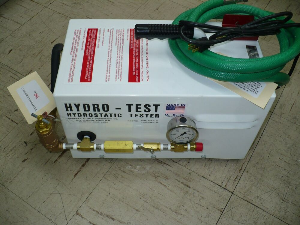 how to build a hydrostatic test pump