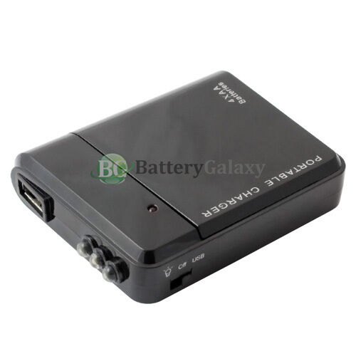 Usb Black Emergency Portable 4 Aa Battery Charger For