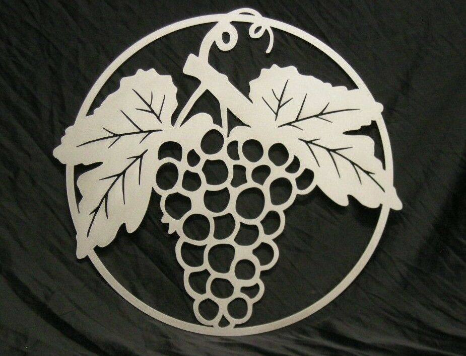 Grapes Large Metal Wall Art Or Gate Ornament 36 Inches