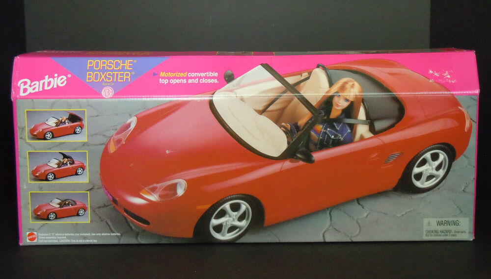 rare 1998 barbie porsche boxster red sport car motorized