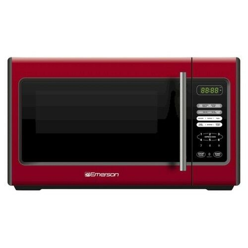 Emerson 0 9 cu ft 900 watt microwave oven red mw9338rd ebay - Red over the range microwave ...