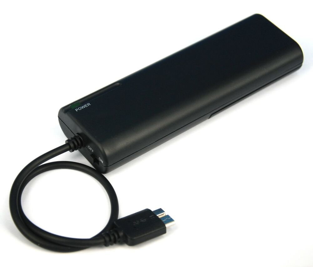 Aa Battery Portable Emergency Backup Charger Black For