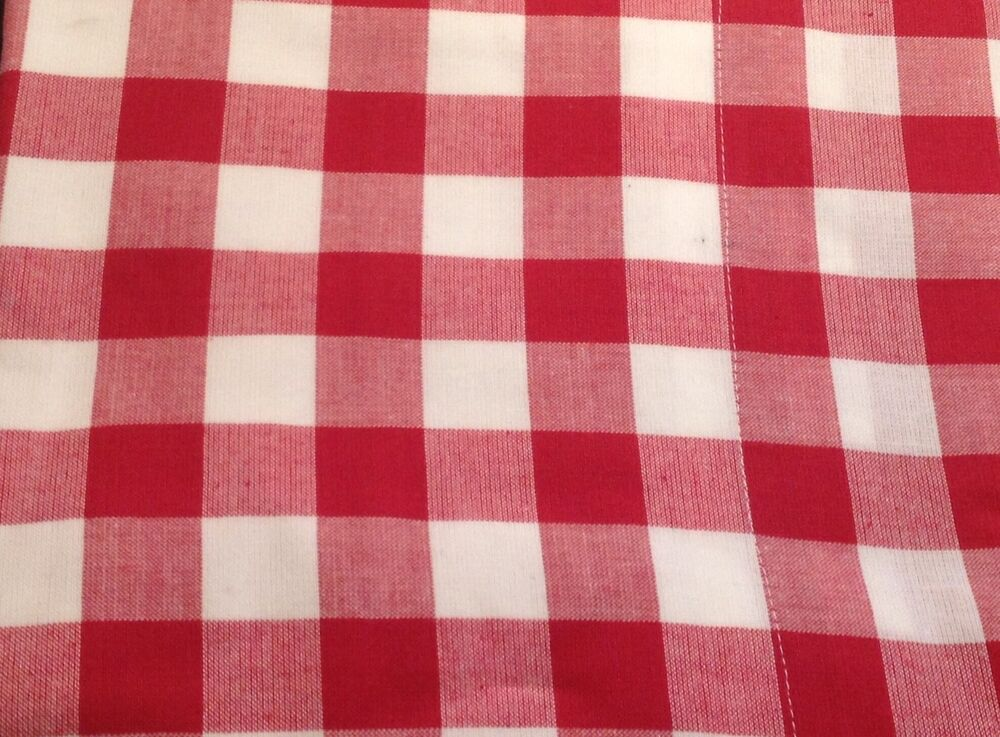 red gingham check valance lined kitchen 182x41cm new ebay