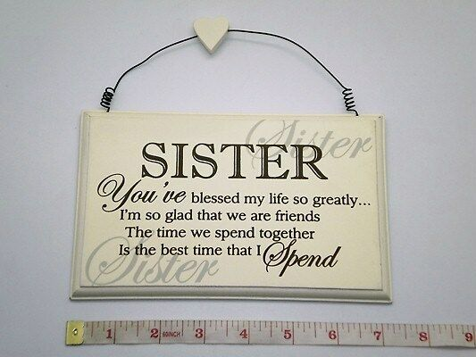Blessed Sister Wall Plaque Birthday & Wedding Gift Ideas for Sisters ...